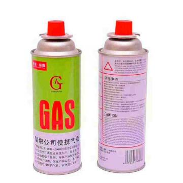 Outdoor portable butane gas canister for portable camping stoves
