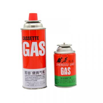 Professional Cleaning Portable Outdoor  220g~250g Butane Gas Aerosol Can with Valve and Cap