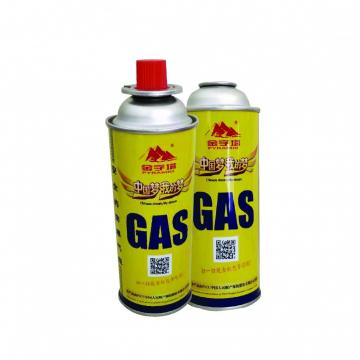 Camping Round Shape Prime butane gas cartridge and butane gas canister