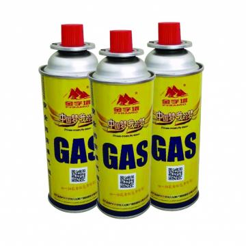 Industrial portable Continent Gas 190gr Butane Gas Cartridge