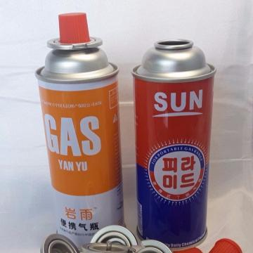 Empty butane gas canister factory  with CRV