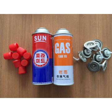 China empty 220g butane gas cartridge and 220g camping gas butane canister refill urified butane gas for lighter