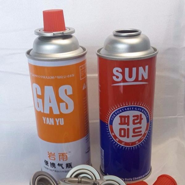 Camping Refill Butane Gas Factory wholesale butane gas cartridge canister empty aerosol can 4 color printing