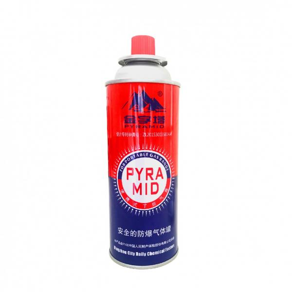 Butane mixture 190 gr Refillable 220g 400ml 430ml aluminium butane gas can for portable stove in the Philippines